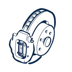 Rear brake disc (4.2L - 4...